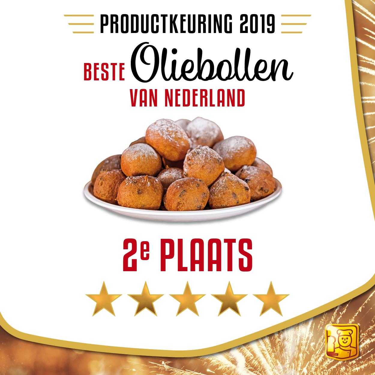 2e plaats oliebollen Echte Bakkers Gilde Nijkamp